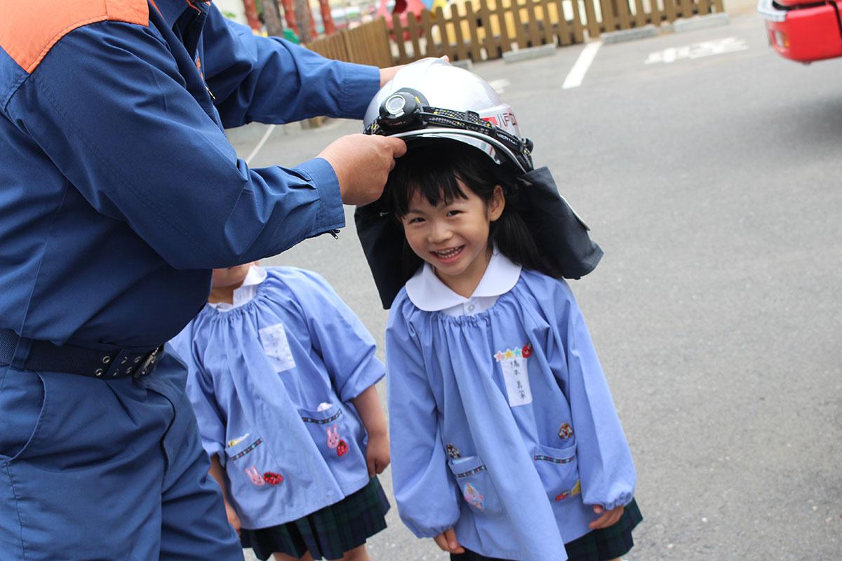 幼年消防クラブ防火帽