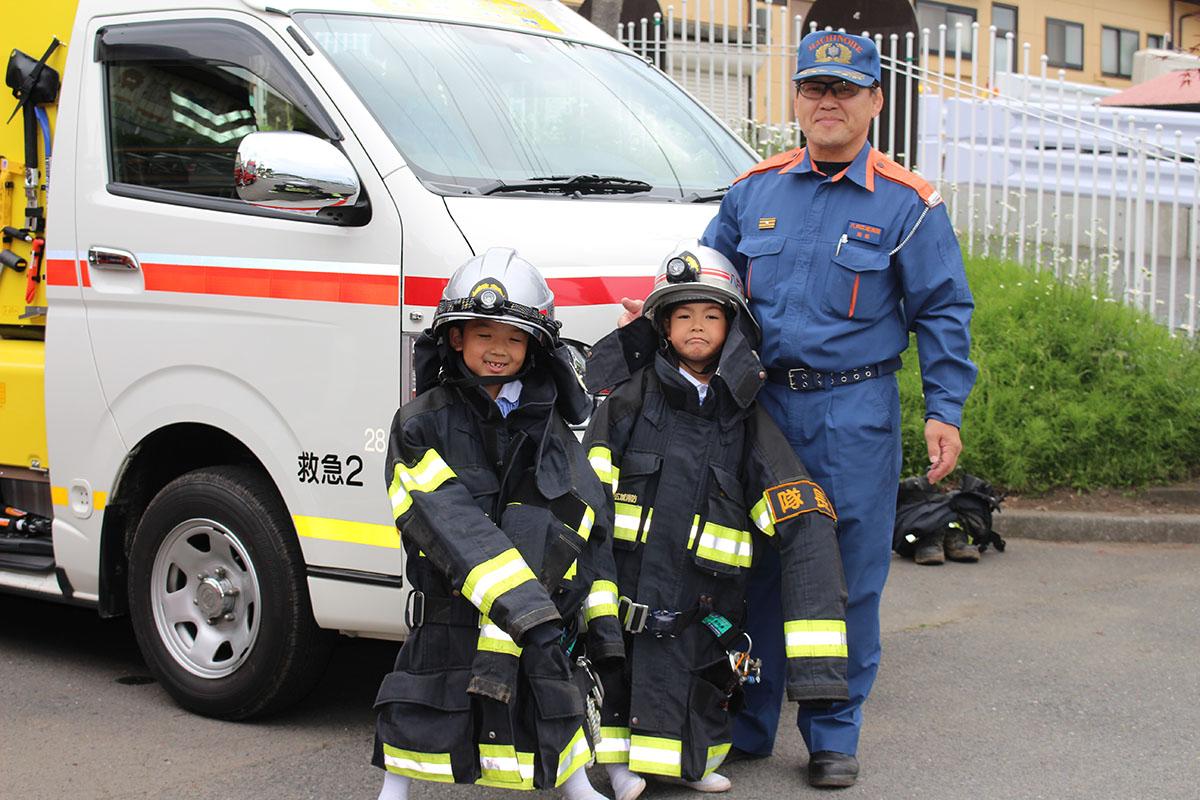 幼年消防クラブ防火衣