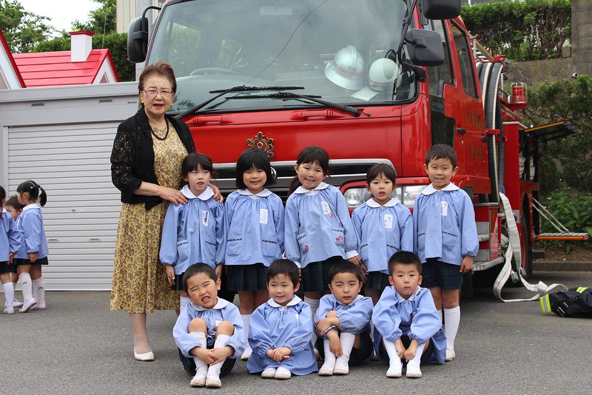 幼年消防クラブ記念写真