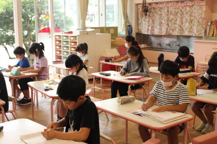 学童保育~朝の勉強の様子~